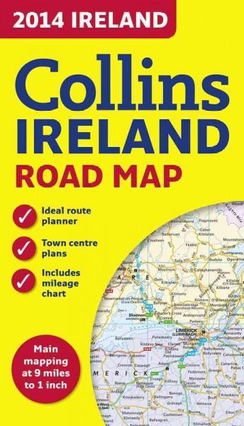 Collins 2014 Ireland Road Map (Sheet map, folded)