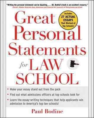 Great Personal Statements for Law School (Paperback)