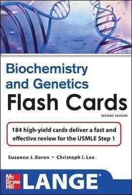 Biochemistry and Genetics Flash Cards: 184 High-yield Cards Deliver a Fast and Effective Review for the USMLE Step 1 (Cards)