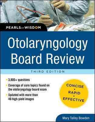 Otolaryngology Board Review (Paperback)
