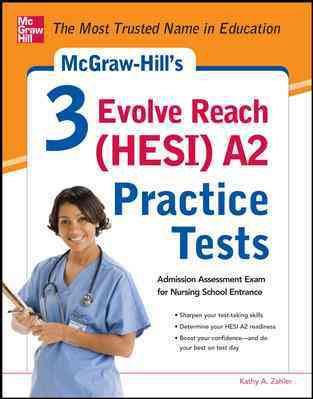 McGraw-Hill's 3 Evolve Reach (HESI) A2 Practice Tests (Paperback)