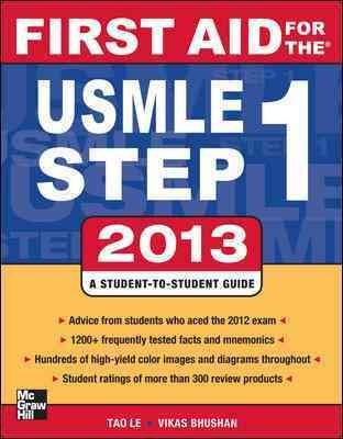 First Aid for the USMLE Step 1, 2013: A Student-to-student Guide - Thumbnail 0