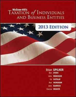 McGraw-Hill's Taxation of Individuals and Business Entities 2013 (Hardcover)