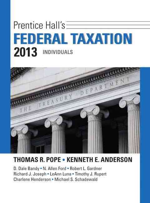 Prentice Hall's Federal Taxation 2013 Individuals (Hardcover)