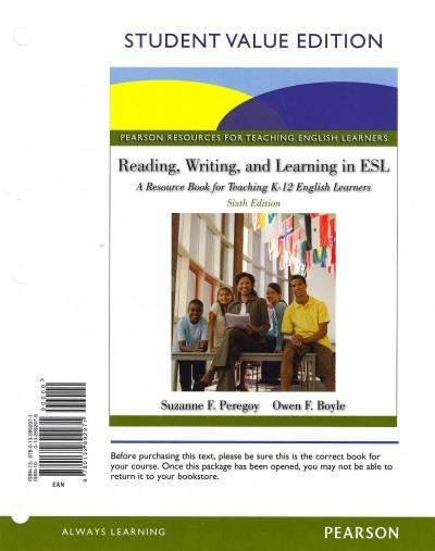Reading, Writing, and Learning in ESl: A Resource Book for Teaching K-12 English Learners (Paperback)