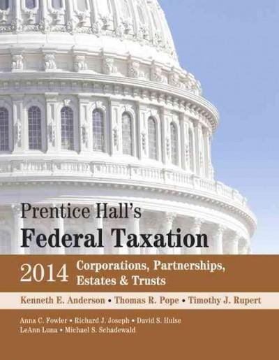 Prentice Hall's Federal Taxation 2014: Corporations, Partnerships, Estates & Trusts (Hardcover)