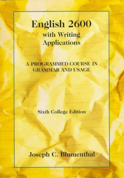 English 2600: With Writing Applications : A Programmed Course in Grammar and Usage (Paperback)