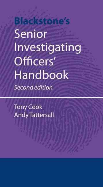 Blackstone's Senior Investigating Officer's Handbook (Paperback)