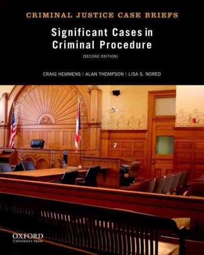 Significant Cases in Criminal Procedure (Paperback)