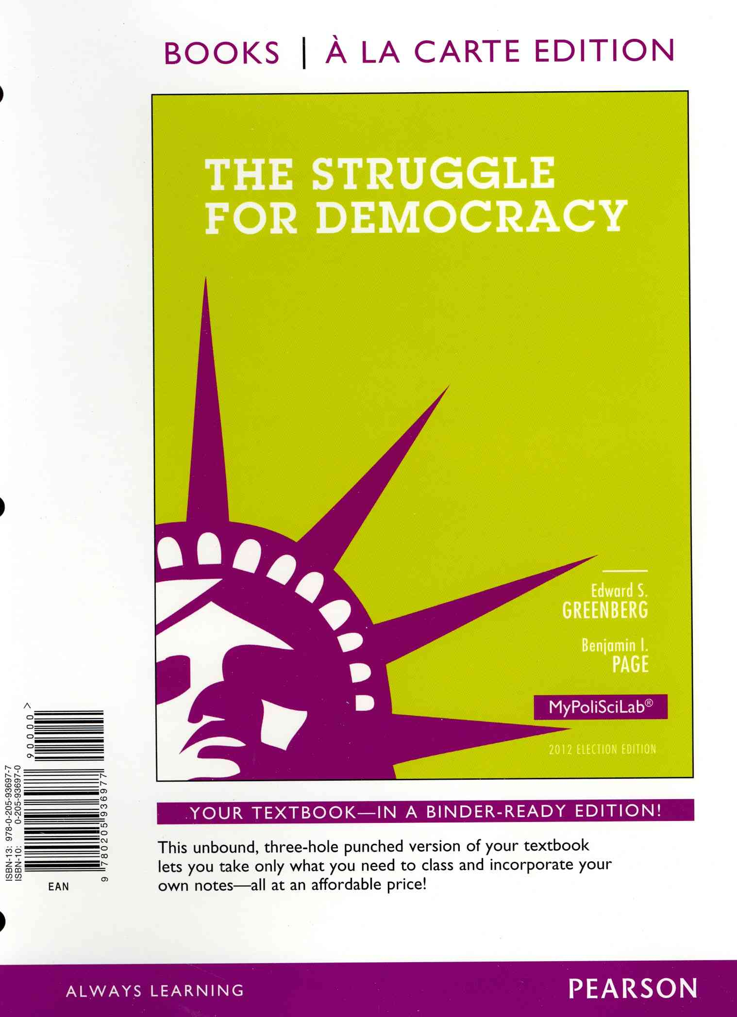 The Struggle for Democracy 2012 Election Edition (Other book format)