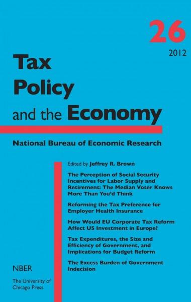 Tax Policy and the Economy (Hardcover)
