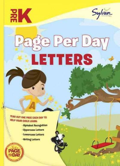 Pre-K Page Per Day: Letters (Paperback)