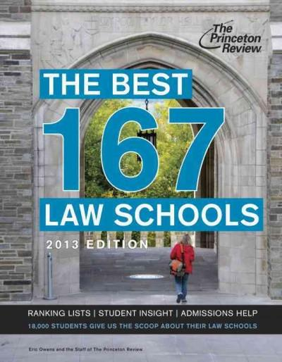 The Best 168 Law Schools 2013 (Paperback)