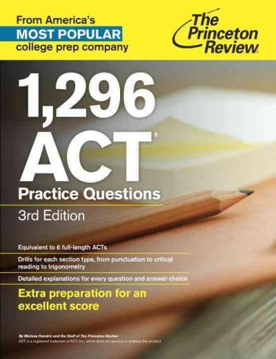 1,296 ACT Practice Questions (Paperback)