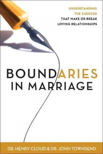 Boundaries in Marriage (Hardcover)