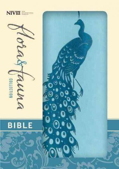 Holy Bible: New International Version, Turquoise / Teal Peacock, Italian Duo-Tone, Flora & Fauna Collection (Paperback)