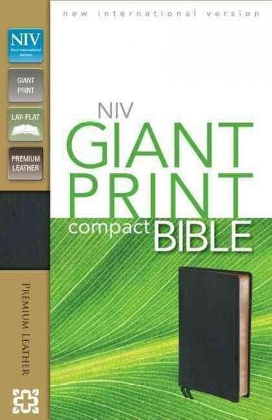 Holy Bible: New International Version, Ebony, Premium Leather, Giant Print Bible (Paperback)