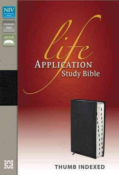 Life Application Study Bible: New International Version, Black, Top Grain Leather (Paperback)