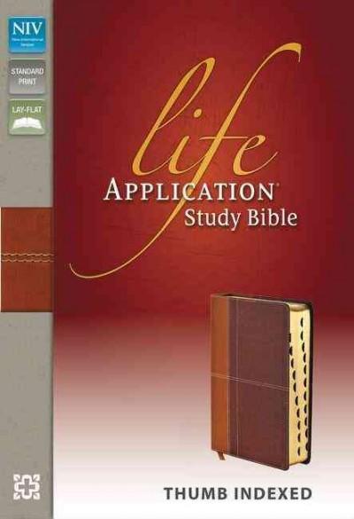 Life Application Study Bible: New International Version, Caramel / Dark Caramel, Italian Duo-Tone (Paperback)