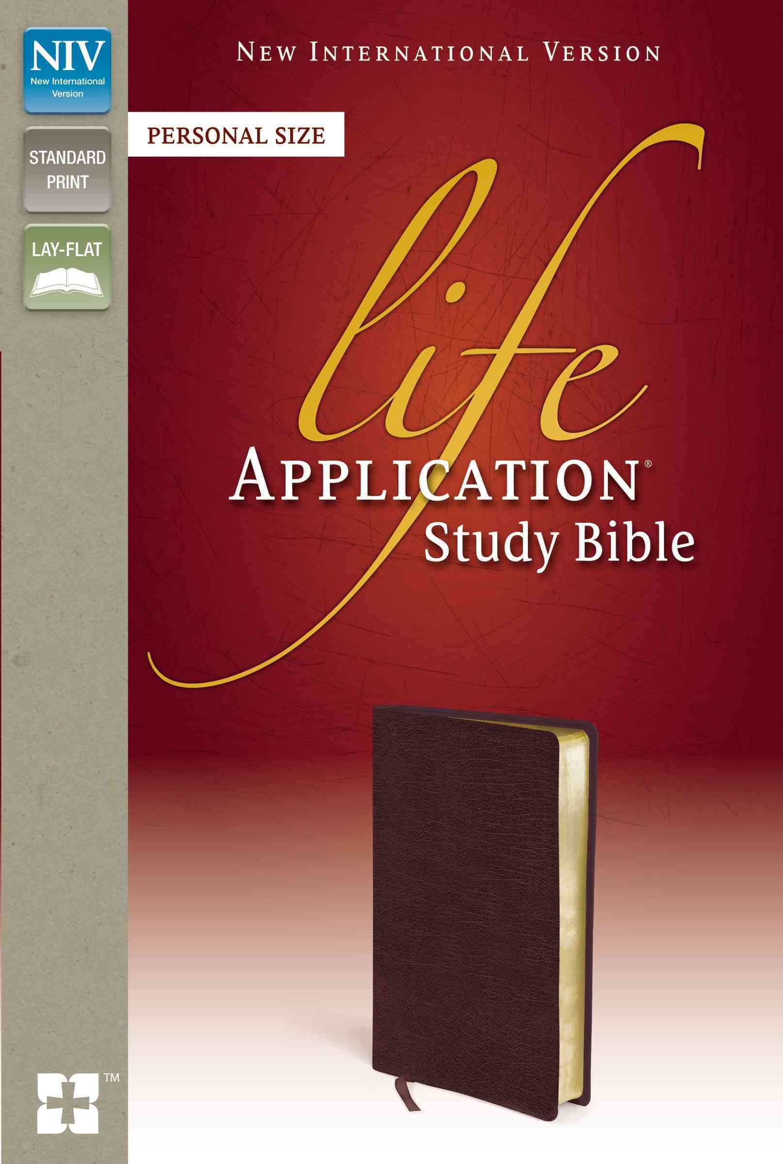 Life Application Study Bible: New International Version Burgundy Bonded Leather Personal Size (Paperback)