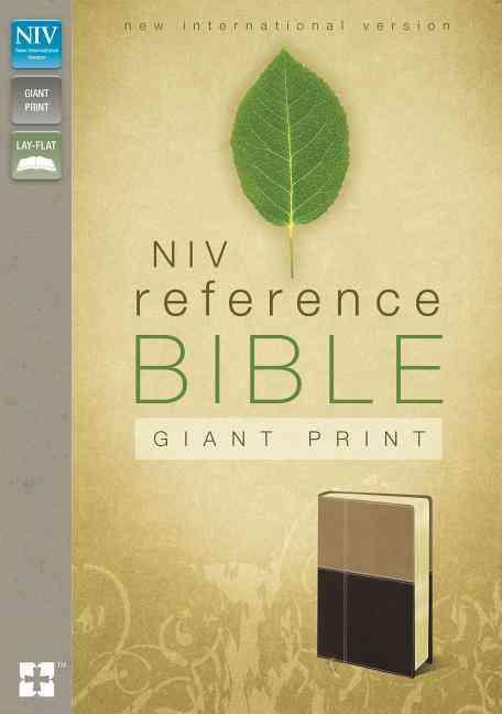 Holy Bible: New International Version, Latte / Mocha Italian Duo-Tone Giant Print Reference (Paperback)