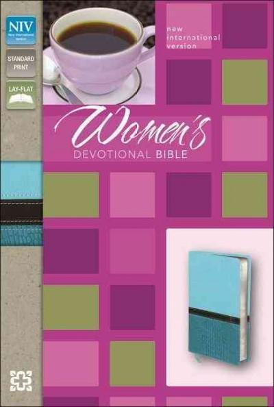 Women's Devotional Bible: New International Version Turquoise / Caribbean Blue Italian Duo-Tone (Paperback)