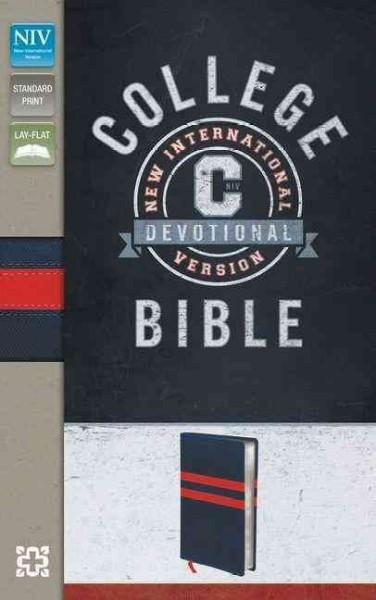 College Devotional Bible: New International Version, Navy / Red, Italian Duo-Tone (Paperback)