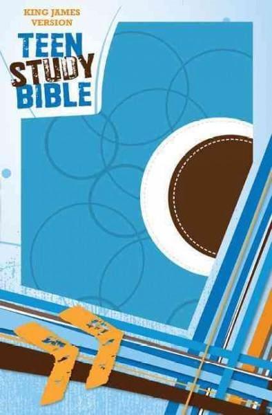 Teen Study Bible: King James Version, Sky Blue / Fudge Italian Duo-Tone (Paperback)