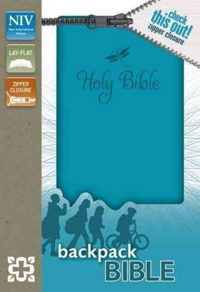 Holy Bible: New International Version Teal Italian Duo-Tone Zipper Closure Backpack Bible (Paperback)
