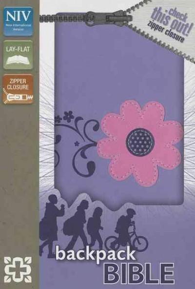 Holy Bible: New International Version, Pretty Purple, Italian Duo-Tone, Zipper Closure, Leather, Backpack Bible (Paperback)