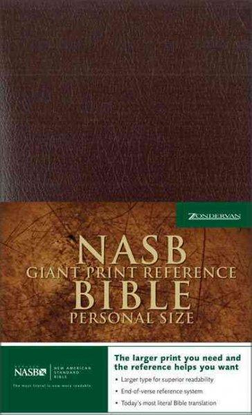 Giant Print Reference Bible: New American Standard Bible, Burgundy Leather-look, Premium Personal Size (Paperback)