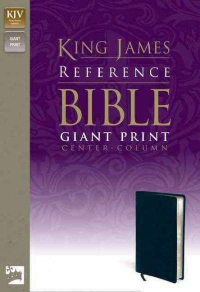 Holy Bible: King James Version, Navy, Premium Leather-look, Giant Print Center-Column Reference Bible (Paperback)