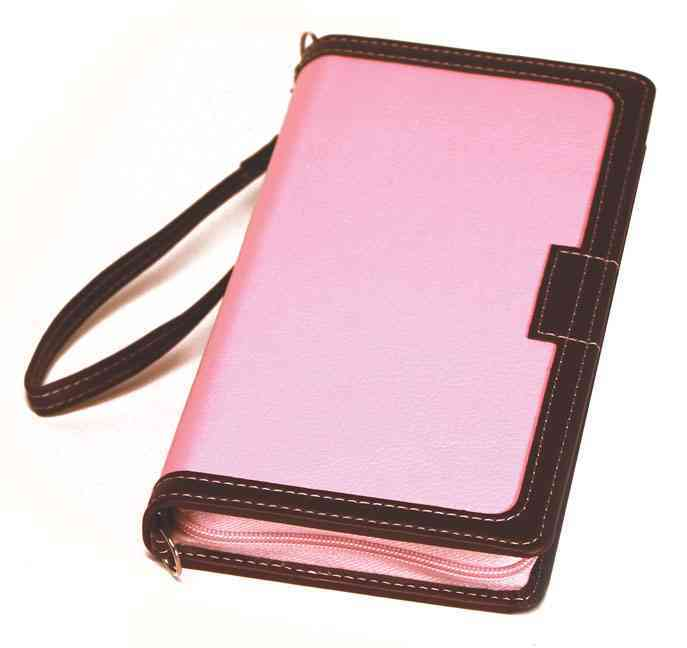 Holy Bible: Bible Clutch, King James Version, Study, Pink / Chocolate (Paperback)