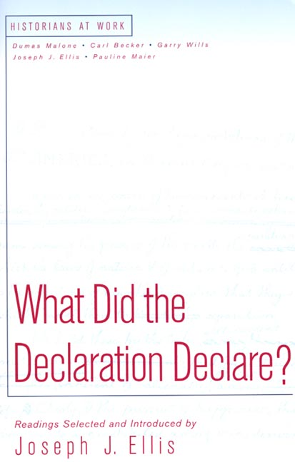 What Did the Declaration Declare? (Paperback)