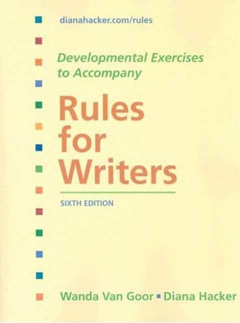 Rules for Writers: Developmental Exercises (Paperback)