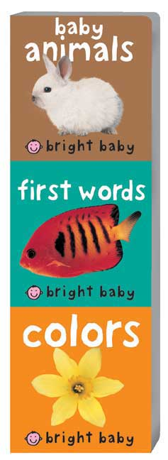 Bright Baby Chunky Books: First Words, Baby Animals, Colors (Board book)