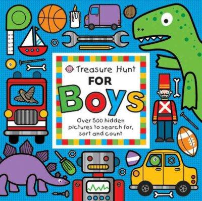 Treasure Hunt for Boys: Over 500 Hidden Pictures to Search For, Sort and Count (Board book)
