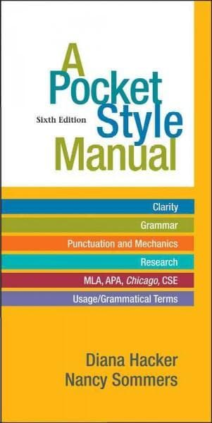 A Pocket Style Manual (Paperback)
