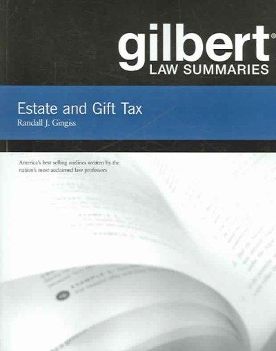 Estate and Gift Tax (Paperback)