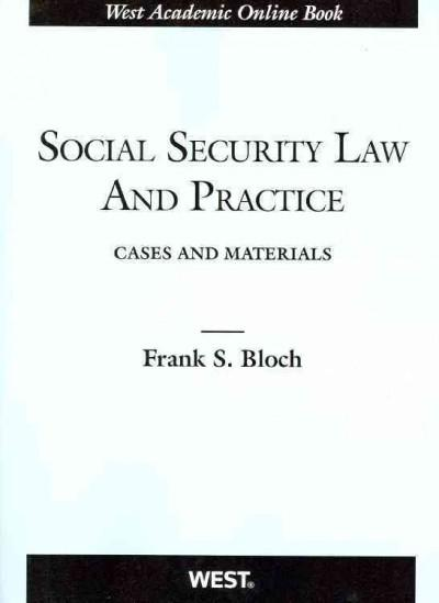 Social Security Law and Practice: Cases and Materials (Paperback)