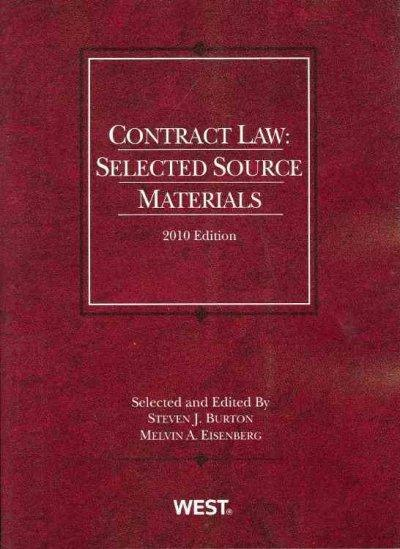 Contract Law 2010: Selected Source Materials (Paperback)