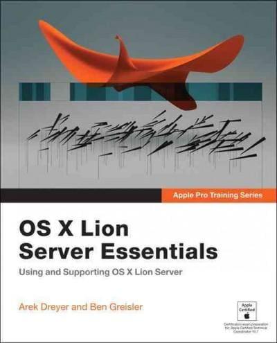 OS X Lion Server Essentials (Paperback)