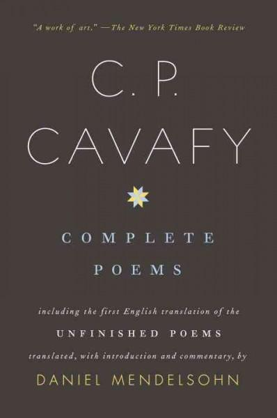 C. P. Cavafy Complete Poems (Paperback)