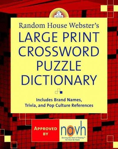 Random House Webster's Large Print Crossword Puzzle Dictionary (Paperback) - Thumbnail 0