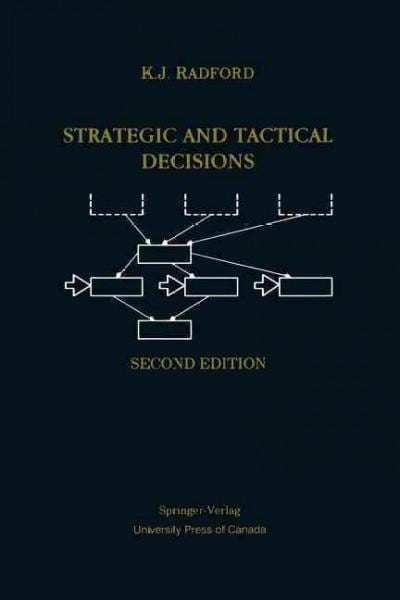 Strategic and Tactical Decisions (Paperback)