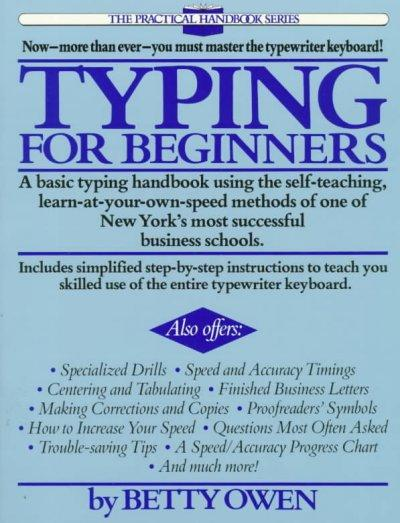 Typing for Beginners (Paperback)