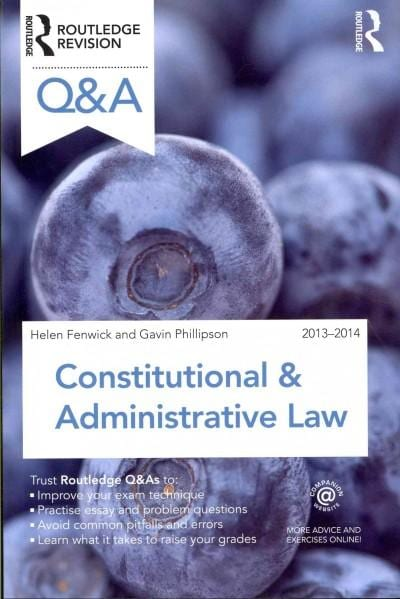 Q & A Constitutional & Administrative Law 2013-2014 (Paperback)