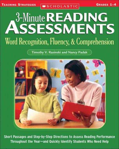 3-minute Reading Assessments Word Recognition, Fluency, & Comprehension: Grades 1-4 (Paperback)