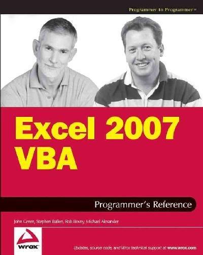 Excel 2007 VBA Programmer's Reference (Paperback)