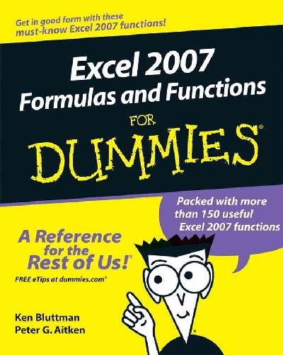 Microsoft Office Excel 2007 Formulas & Functions for Dummies (Paperback)